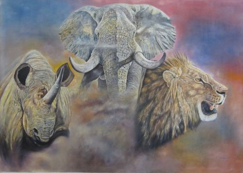enormous art africa painting