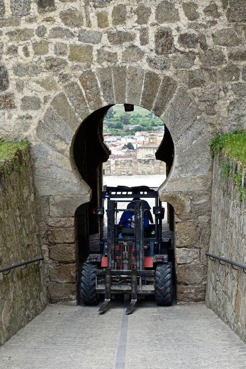 entrance blocked machine