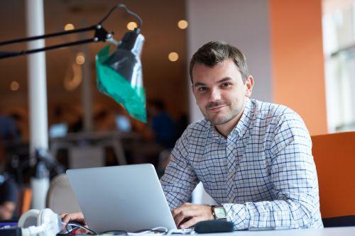 entrepreneur computer man