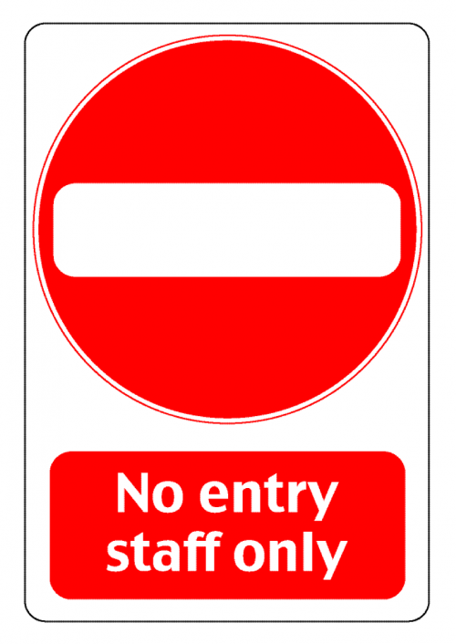 entry staff only