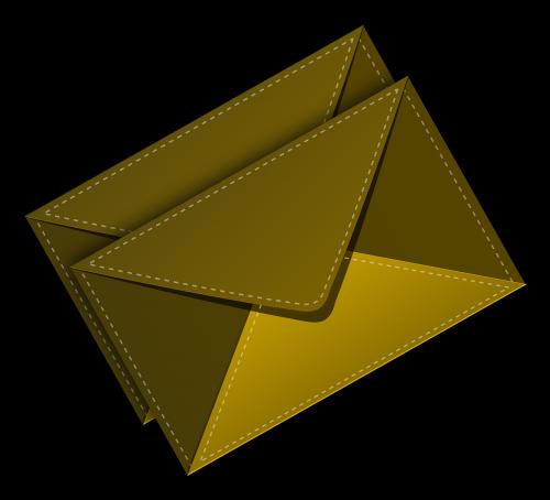 envelop stitched brown