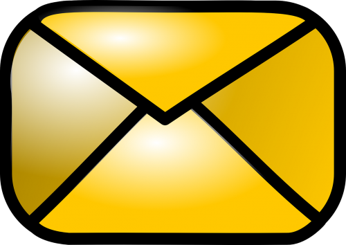 envelope closed gold