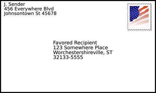 envelope mailing stamp