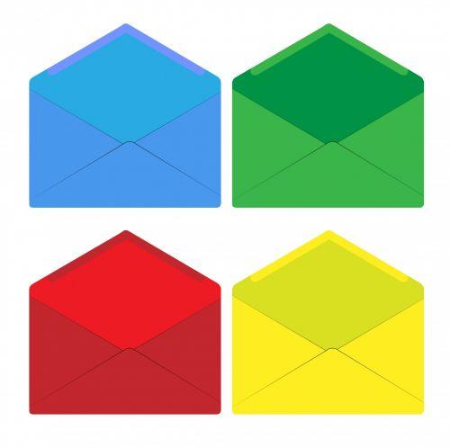 Envelope Set Colorful