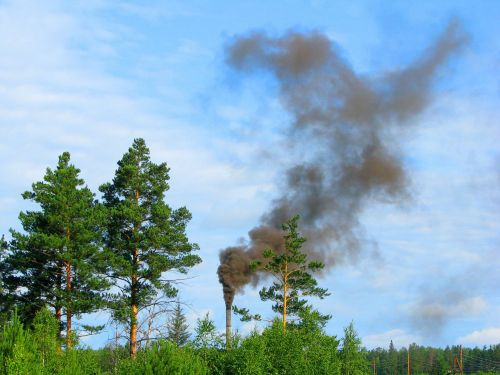 environment pollution chimney smoke