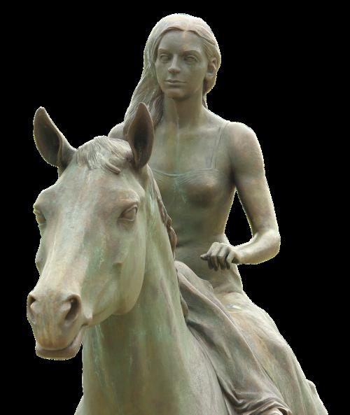 equestrian statue art ludwigslust-parchim