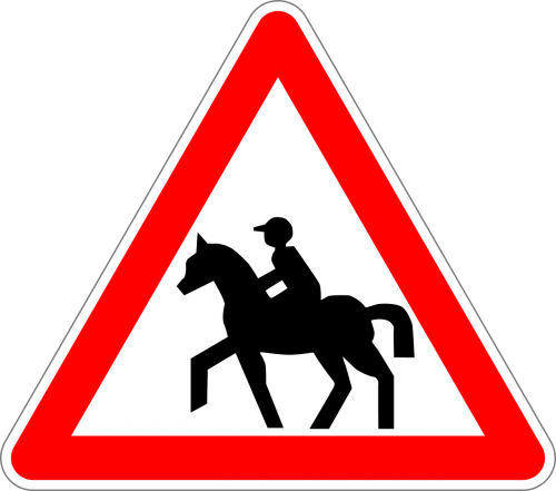 equestrians traffic sign sign