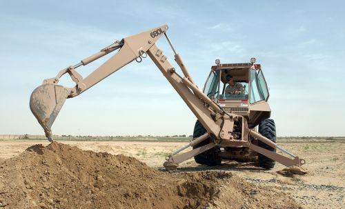 equipment heavy backhoe