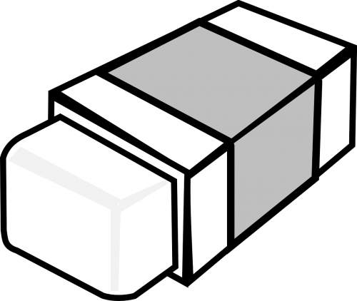 eraser rubber grey