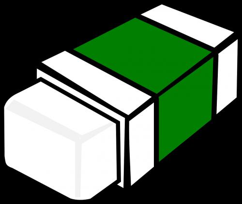eraser rubber green