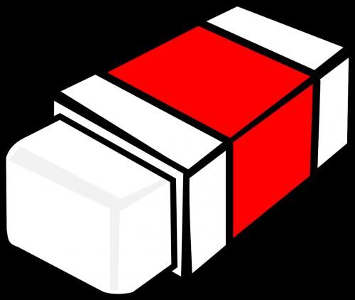 eraser rubber red