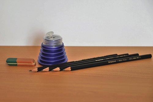 eraser  spitzer  pencils