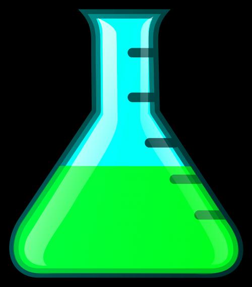 erlenmeyer flask chemistry green