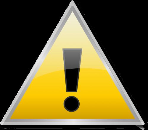error warning exclamation mark