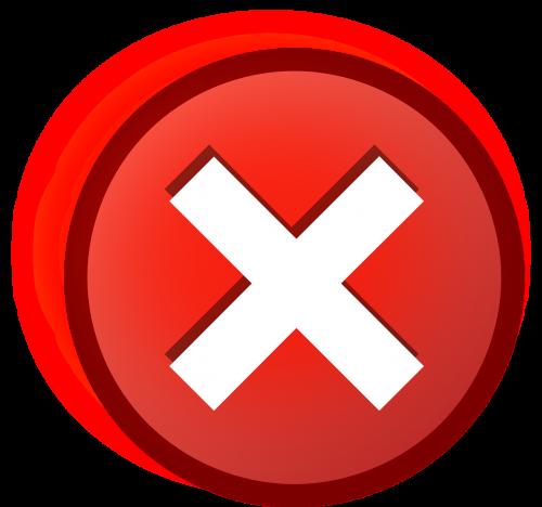 error cross icon
