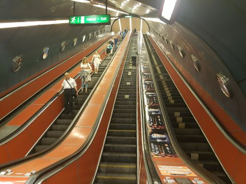 escalator stairs metro
