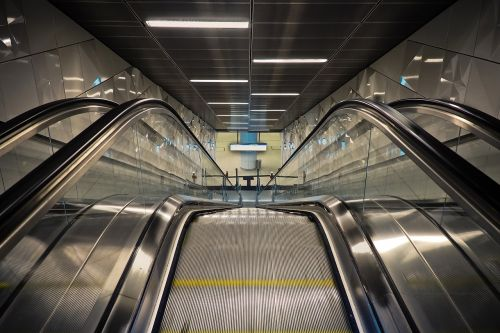 escalator railway station metro