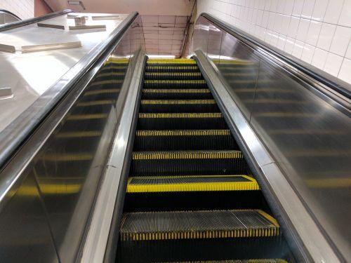 escalator nyc subway escalator urban