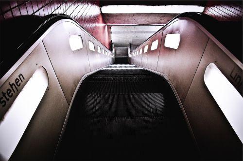 escalator subway station stairs