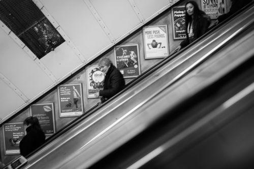 escalator people subway
