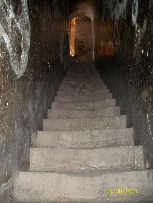 laiptinė, laiptai, žingsniai, akmuo, karjeras, abatija, bažnyčia, laiptinė