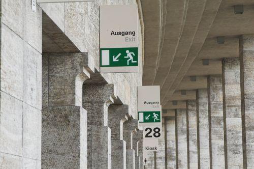 escape route emergency exit escape