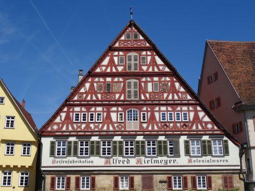 esslingen old town timber framed building