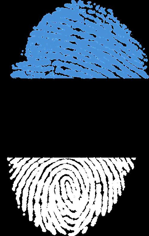 estonia flag fingerprint