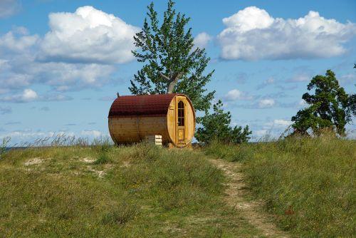 estonia sauna beach