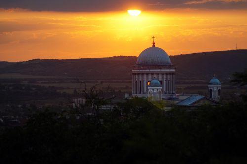 esztergom basilica sunset