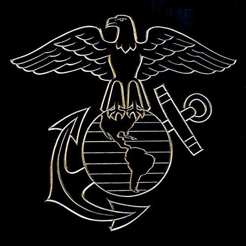 Etching Of Marine Symbol