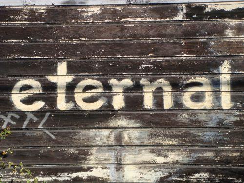 eternal sign wood