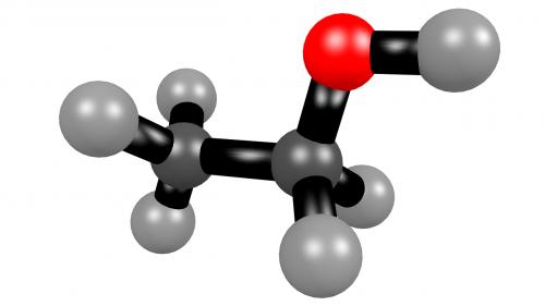ethanol alcohol molecule
