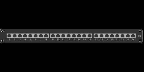 ethernet patch panel rack
