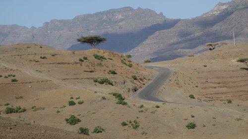 ethiopia  road  loneliness