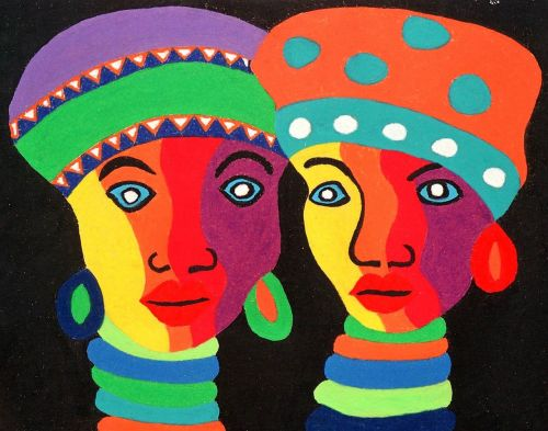 ethnic painting colorful
