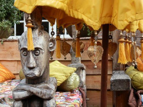 ethnic figure wood