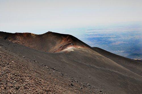 etna  volcano  crater