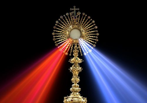 eucharist divine mercy monstrance