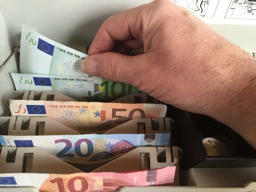 euro money bank note