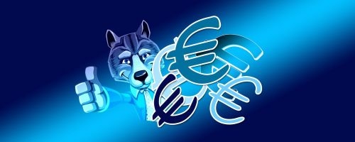 euro currency wolf