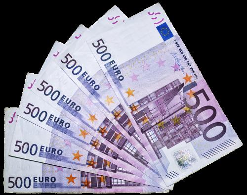 euras,pinigai,sąskaitos,500 eurų,valiuta,popieriniai pinigai,eurų banknotas,pinigai,žaisti tešlą,paskola,fono paveikslėlis,banknotai,sąskaitą,finansai,500,mokėjimas,sumokėti,izoliuotas