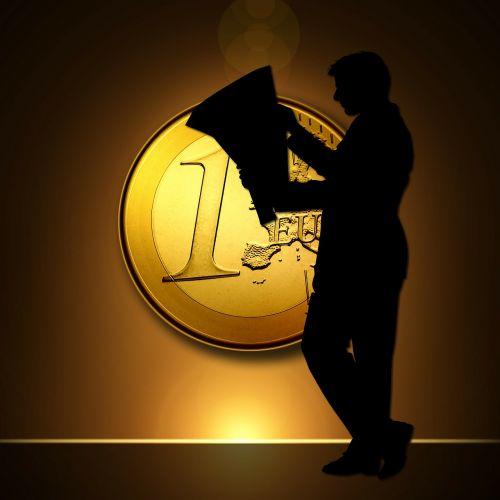 euro coins man