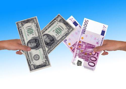 euro dollar hand