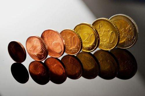 euro coins specie mirroring