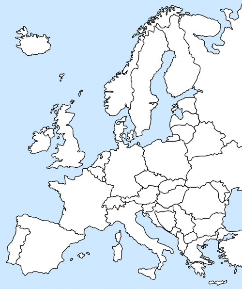 europa map geography