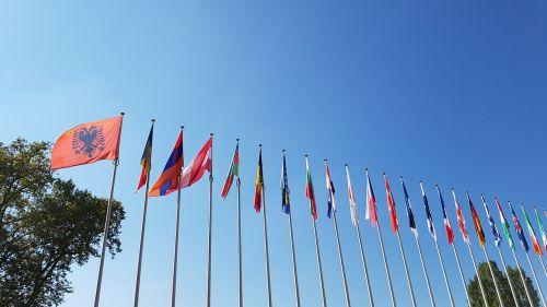 europe flags strasbourg