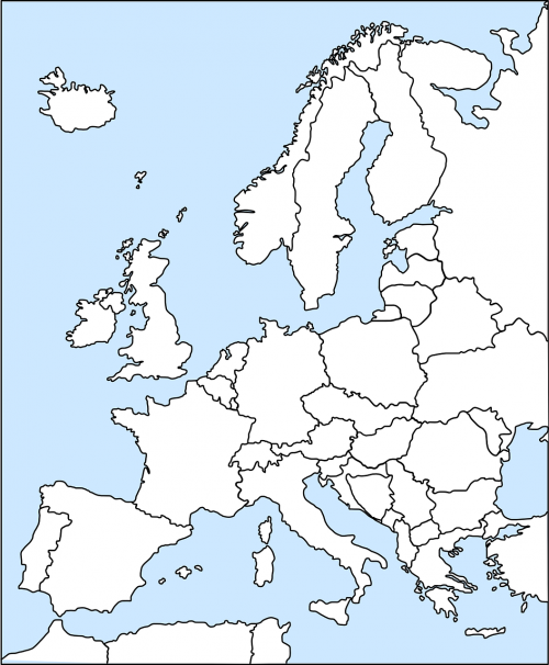 europe map western