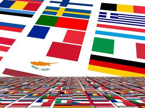 europe flag blue