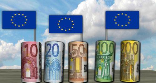 euros bank note flag